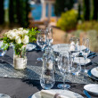 Setted table outdoors. — Stock fotografie