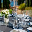 Setted table outdoors. — Stock Photo