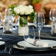 Stock Photo: Detail of prepaired dinner table.