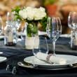 Detail of prepaired dinner table. — Stock Photo