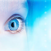 Futuristic eye concept. — Stock Photo