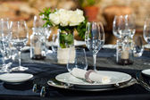 Detail of prepaired dinner table. — Stock Photo