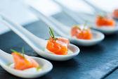 Salmon morsel. — Stock Photo