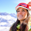 Woman in ski wear contemplating view. — Stock Photo #42045527