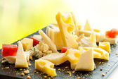 Cheese platter. — Stock Photo