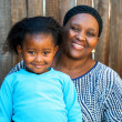 African kid with mother. — Stock Photo