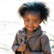 Little african girl outdoors. — Stock Photo #48678813