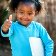 Cute african girl with notebook. — Stockfoto #48678877