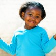 Wondering african girl with arms open. — Stock Photo #48679021