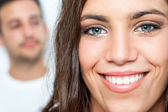 Teen with toothy smile — Stock Photo