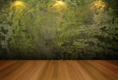 Empty room green cement wall — Stock Photo