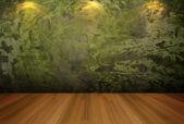 Lege ruimte groene cement muur — Stockfoto