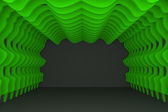 Abstract green curve wall — Foto Stock