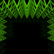 Abstract green triangle truss wall — Stock Photo #12450649