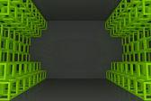 Mur abstraite treillis carré vert — Photo
