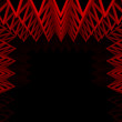 Abstract red triangle truss wall — Stock Photo #12650025