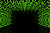 Abstract green triangle truss wall — Foto Stock