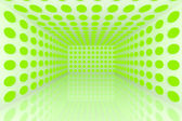 Abstract color green lighting sphere — Stock Photo