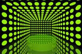 Подиум в пустой комнате зеленый — Стоковое фото