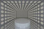 Podium in Empty room gray — Stock Photo