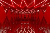Abstraktní červená stěna v prázdné místnosti — Stock fotografie