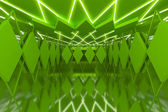 Abstract green wall in empty room — Stockfoto