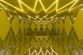 Abstraktní žlutá stěna v prázdné místnosti — Stock fotografie