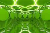 Soyut yeşil küre duvar — Stok fotoğraf