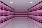 Pembe tonu kiremit duvar tasarımı — Stok fotoğraf