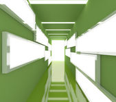 Abstract green interior rendering — Stock Photo