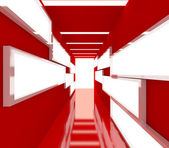 Abstract red interior rendering — Stock Photo