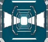 将来の青い空の部屋 — ストック写真