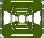 将来の緑の空の部屋 — ストック写真