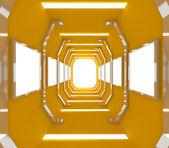 Zukünftige gelb leeren raum — Stockfoto