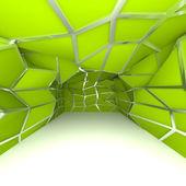 Diagonale mur salle vide vert — Photo