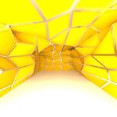 Diagonale mur vide chambre jaune — Photo