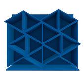 Blå triangel hylla — Stockfoto