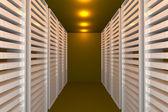 Yellow data room — Stock Photo