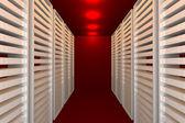 Sala de datos rojo — Foto de Stock