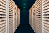 Blue data room — Stock Photo