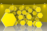 Abstract yellow interior for Ads — Stock Photo