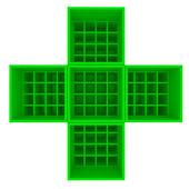Green shelf for health — Stock Photo