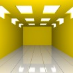 Abstract yellow empty room — Stock Photo