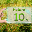Natural 10 percent — Stock Photo