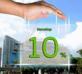 Davalop 10 percent — Stock Photo