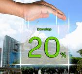Davalop 20 percent — Stock Photo
