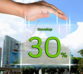 Davalop 30 percent — Stock Photo