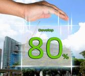 Davalop 80 percent — Stock Photo