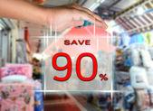 Yüzde 90'ı kaydetme — Stok fotoğraf