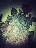 Textiles floral vintage — Stock Photo
